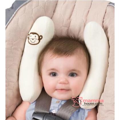 Baby Adjustable Head Support - Summer Almond