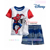 Baby Clothes - 2 pcs Spiderman Blue White Short Sleeves