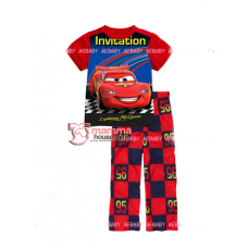 Baby Clothes - 2 pcs Cars Red Blue (Short Sleeves)