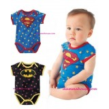 Baby Clothes - Romper Batman or Superman (Short Sleeves)