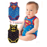 Baby Clothes - Romper Batman or Superman (Singlet)