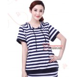 Nursing Set - Modal Stripe Blue