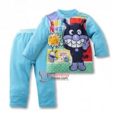 Baby Pajamas - Anpanman Cotton Blue