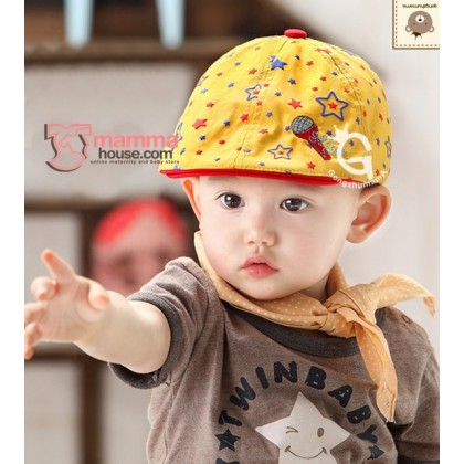 Baby Cap - Star Yellow