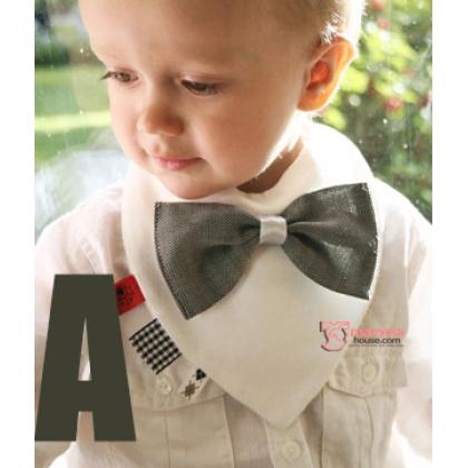Baby Bib - Cotton Bowtie (3 colors)