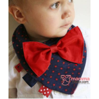 Baby Bib - Cotton Tie (2 colors)
