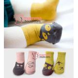Baby Socks - Korean Cute (pink or yellow)