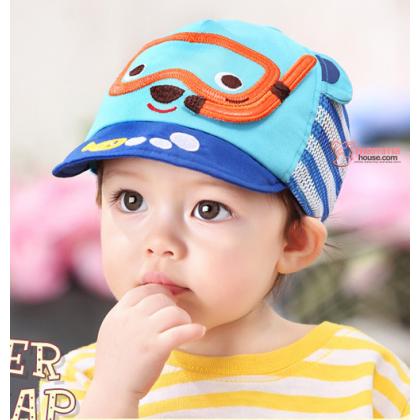 Baby Cap - Mesh Bear Blue