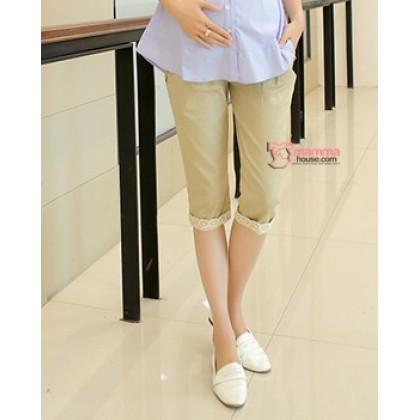 7 Pants - Korean Lace Khaki 7 maternity pants