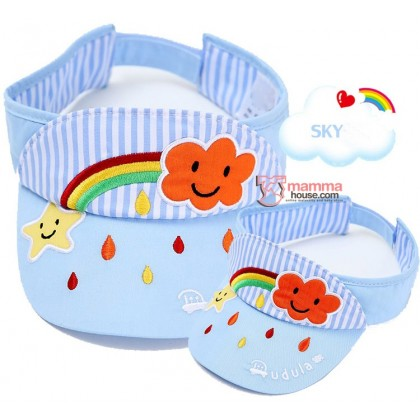 Baby Cap - Cotton Rainbow Sky Blue