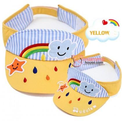 Baby Cap - Cotton Rainbow Yellow