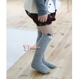Baby Socks - Korean Long Wolf Grey