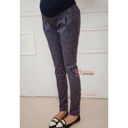 Maternity Pants - Long Cat Grey Blue
