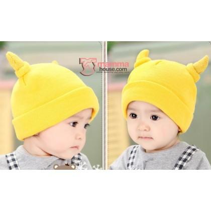 Baby Hat - Little Horns Yellow