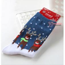 Mamma Sock - X'mas Dark Blue Deer