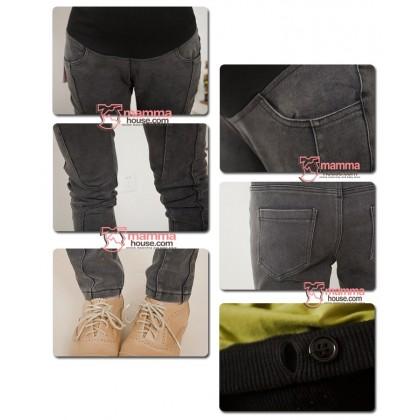 Maternity Pants - Cool Line Black