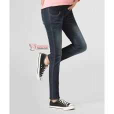 Maternity Jeans - Straight Cut Zip Blue