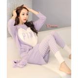 Mamma Pajamas - Long Heart Purple
