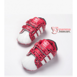 Baby Shoes - Adidas Leopard Red