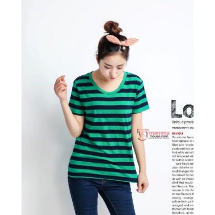 Maternity Tops - Cool Stripe Green