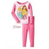 Baby Pajamas - Long Princess Pink White