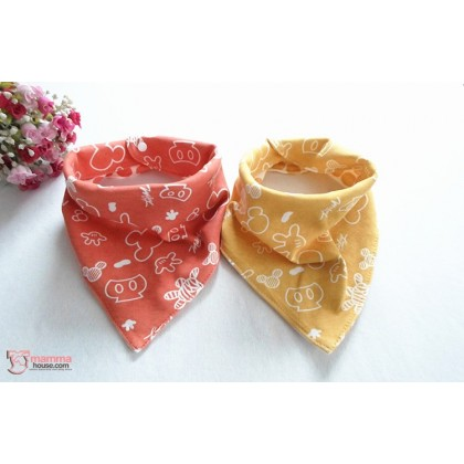 Baby Bib - Korean Cotton 2 way Mickey (3 colors)