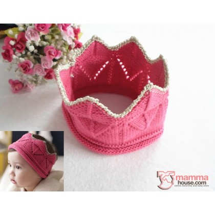 Baby Headband - Cute Knitted Crown (4 colors)