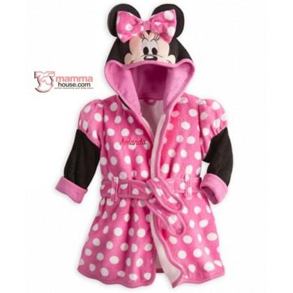 Baby Bathrobe - Velvet Minnie