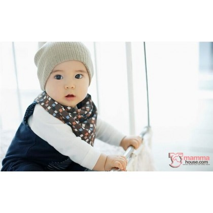 Baby Bib - Korean Cotton 2 way Bowtie Cat (2 colors)