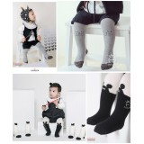 Baby Hose - Korean Knitted Cat Grey or Mickey Black