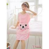 Mamma Pajamas - Dress Bear Pink Short