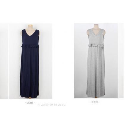 Nursing Dress - Long Grace Dark Blue (only DRESS)
