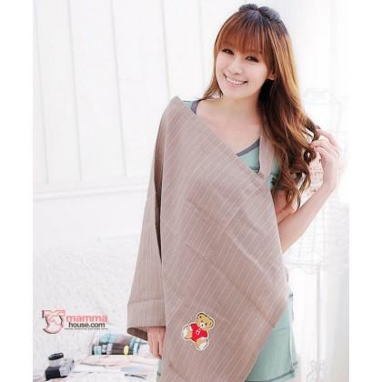 Nursing Cover Sheet - Bear Stripe Khaki