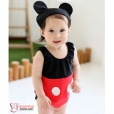 Baby Clothes - Romper Hat Cute Mickey