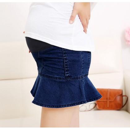 Maternity Skirt - Lotus Jeans Dark Blue