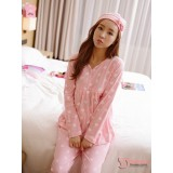 Mamma Pajamas - Long Heart Pink
