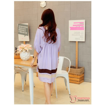 Maternity Dress - Flora Purple