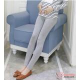 Maternity Legging - Long Slim Legging Light Grey