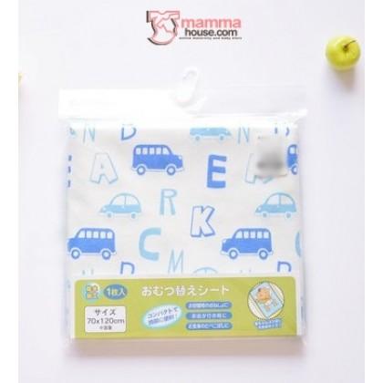Baby waterproof mat - JP Car Blue (Large)