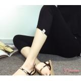Maternity Capri Legging - Cat Black 7