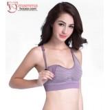 T Nursing Bra - Quality Stripe Purple