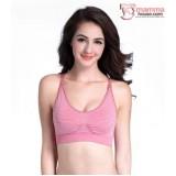 T Nursing Bra - Quality Stripe Pink