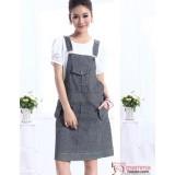 Maternity Dress - Strap Stripe Black