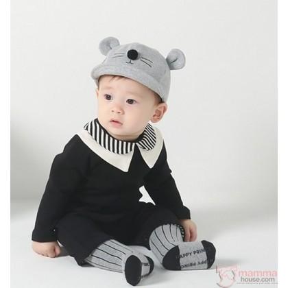 Baby Hat - Korean Mice Grey Light