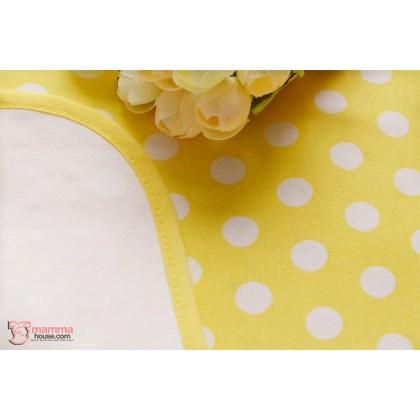 Baby waterproof mat - JP Polka Yellow (Large)