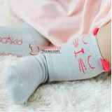 Baby Socks - Korean Cat Grey