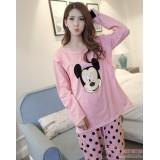 Mamma Pajamas - Mickey Polka Pink