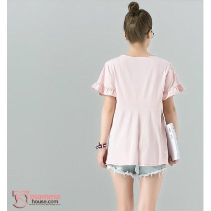 Nursing Tops - Lotus Sleeves Pink or Dark Purple