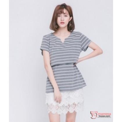 Maternity Shorts - Dress-Link Lace White