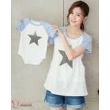 Nursing Set - Star Blue (plus baby romper)